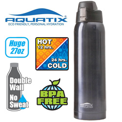 Double Wall Sports Bottle - 27oz.  Model# A00409