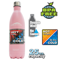 25-oz. Insulated Bottle - Pink  Model# SLIM SPOUT 25OZ - PINK
