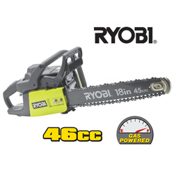 Ryobi 18 inch Gas Chain Saw  Model# ZRRY-10518
