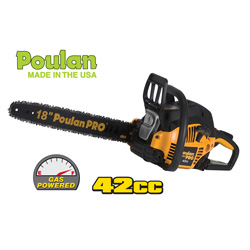 Poulan Pro Gas Chainsaw - 18 inch  Model# PP4218