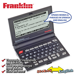 Franklin Speaking Spanish/English Dictionary  Model# BES-2100R