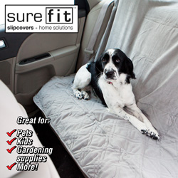 Suede Quilted Pet Seat Cover  Model# 15288