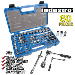 60 Piece Socket Set  Model# INDUSTRO-00400