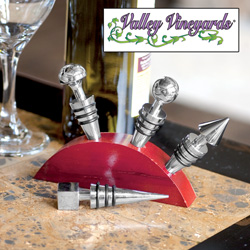 4 Wine Stopper Set&nbsp;&nbsp;Model#&nbsp;ZR306