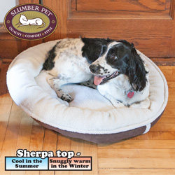 Sherpa Donut Pet Bed  Model# ZW08 24 31