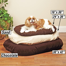 Memory Foam Dog Bed 18x30 - Chocolate  Model# ZW276