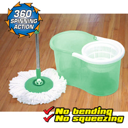 Clean Spin Mop - Green  Model# YDMM-55-576