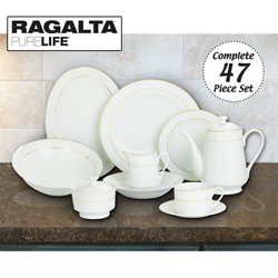 Ragalta 47 Piece Dinnerware Set  Model# RDS-046