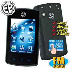 8GB Touch Screen MP3 Player&nbsp;&nbsp;Model#&nbsp;MP2808MO