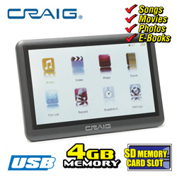 Craig 4.3 inch Music &amp; Movie Player&nbsp;&nbsp;Model#&nbsp;CMP-641F