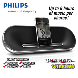 Philips Fidelio Rechargeable Speaker  Model# DS7550