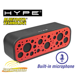 HiFi Bluetooth Speaker / Speakerphone  Model# HY-523-BT-RED