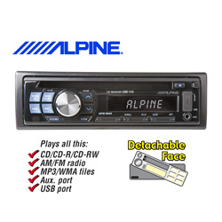 Alpine In-Dash Stereo  Model# CDE-110