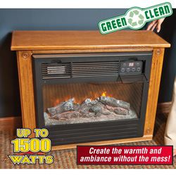 Cherry Electric Infrared Fireplace&nbsp;&nbsp;Model#&nbsp;XAEF-23A