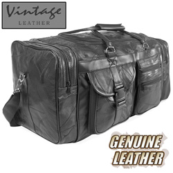 Vintage Leather Duffel Bag  Model# H52070