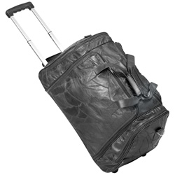 Black Leather Rolling Duffle Bag  Model# A0928