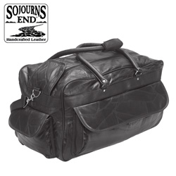 Lambskin Duffle - Black  Model# LXB-111