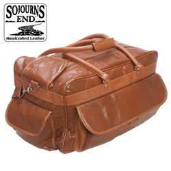 Lambskin Duffle - Brown  Model# LXB-111