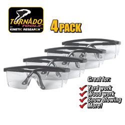 4 Pack Safety Glasses  Model# 12SP-117