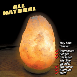 2 Pack Ionic Crystal Salt Lamps  Model# 1001-2