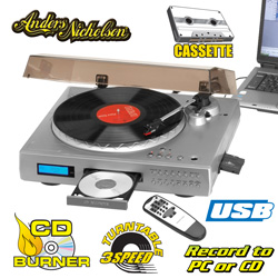 USB Turntable With CD Burner&nbsp;&nbsp;Model#&nbsp;2655