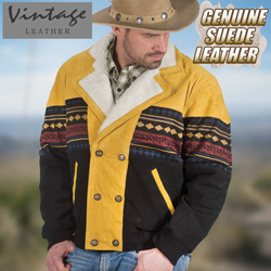 Cognac Southwestern Jacket&nbsp;&nbsp;Model#&nbsp;23760-COG/BLK