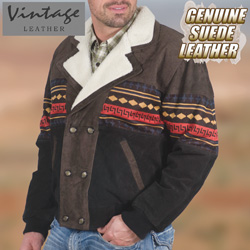 Brown Southwestern Jacket&nbsp;&nbsp;Model#&nbsp;23760-BRN/BLK
