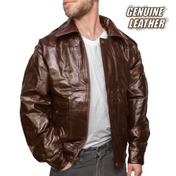 Leather Jacket - Brown  Model# GFEUCB