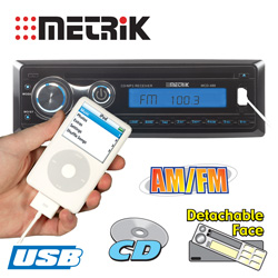 Metrik CD/AM/FM Receiver with USB  Model# MCD-488
