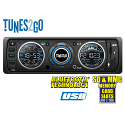 Tunes2Go Car Stereo with Bluetooth  Model# RUS-121B