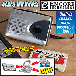 Encore Technology Portable Cassette Converter&nbsp;&nbsp;Model#&nbsp;2034