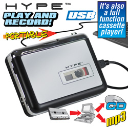 USB Walkman Cassette Player&nbsp;&nbsp;Model#&nbsp;HY-2010-TP
