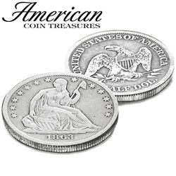 Silver Seated Liberty Half Dollar  Model# 6796