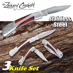3 Piece Lockback Knives&nbsp;&nbsp;Model#&nbsp;22362LA