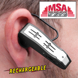 Rechargeable Discrete Sound Amplifier  Model# 110858-MSA
