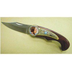 Colorized Buffalo Nickel Pocket Knife