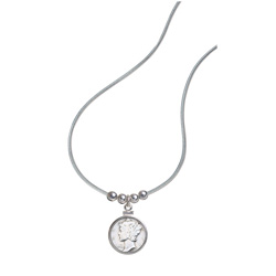 Silver Mercury Dime Pendant
