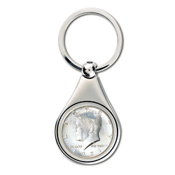 JFK Half Dollar Key Ring