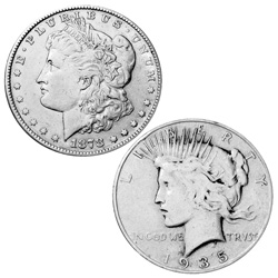 1st Morgan/ Last Peace Dollar Set  Model# 61350