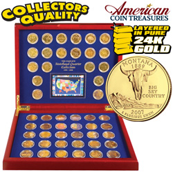 Complete Gold State Quarters  Model# 1928