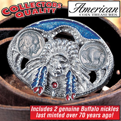 Buffalo Nickel Belt Buckle&nbsp;&nbsp;Model#&nbsp;3261