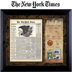 New York Times Civil War Coin/Stamp Set  Model# 50010