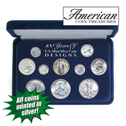 100 Years of US Mint Silver Coinage  Model# 1042