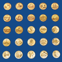 Gold State/Territory Quarters Collection  Model# 10026