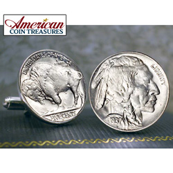 Buffalo Nickel Cuff Links  Model# 2252