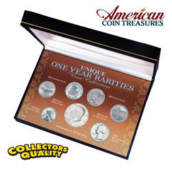 Unique One Year Rarities Coin Collection  Model# 187
