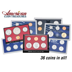 5 Decades of U.S. Mint Proof Sets  Model# 12563