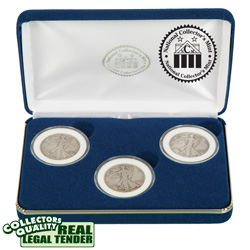 Walking Liberty Half Dollar Mint Mark Set  Model# 22216W