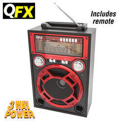 QFX Multimedia Speaker  Model# CS-116-RED