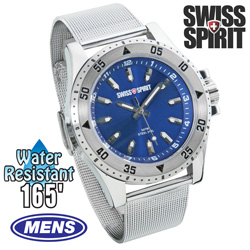 Swiss Spirit Mesh Sports Watch - Blue  Model# 80006-8